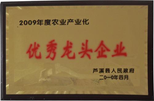 2009年度农业产业化优秀龙头企业