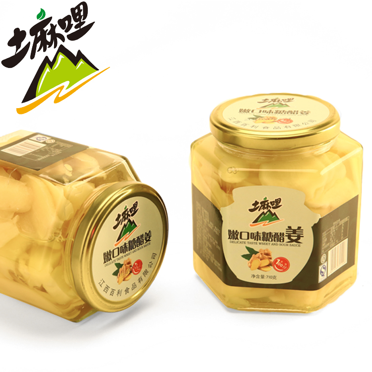 土麻哩 江西萍乡特产 710g小瓶糖醋老姜 鲜嫩爽口 姜味实足